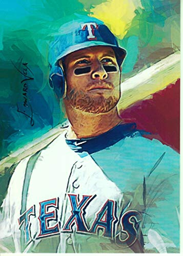 Josh Hamilton #2 - RARE- Texas Rangers -AL ROOKIE OF THE MONTH-ALL STAR- Unlimited Edition Sketch Card