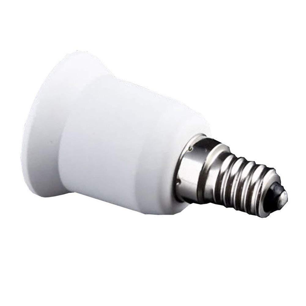 YaptheS E14 à E27 Adaptateur Ampoule LED Bouchon à vis Douille Lampe Socket Converter Edison Essentials Base of Life