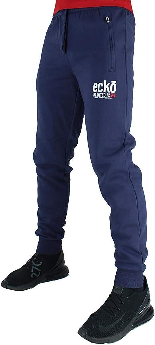 Mens Ecko UNLTD Jogger HipHop Fleece Jogging Bottom Sweat Pant Gymwear AUTODROME