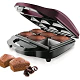 Taurus Brownie & Co - Máquina para hacer brownies, 700 W, color negro y burdeo