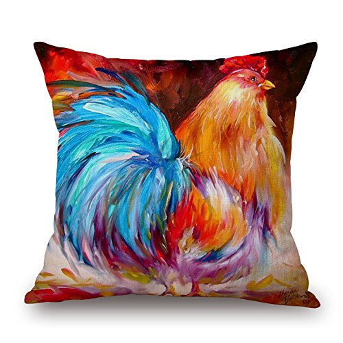 [Artistdecor Throw Pillow Case Of Chicken 20 X 20 Inches / 50 By 50 Cm,best Fit For Car,gf,play Room,dinning Room,husband,outdoor Both] (Snuggles Dog Costume)