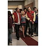 Kristin Chenoweth 8 Inch x 10 Inch PHOTOGRAPH Glee (TV Series 2009 - 2015) Walking Between Dijon Talton & Mark Salling Pose 1 kn