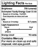 GE Lighting 20708 Energy Smart CFL 16-Watt (65-watt replacement) 750-Lumen R30 Floodlight Bulb with Medium Base, 1-Pack