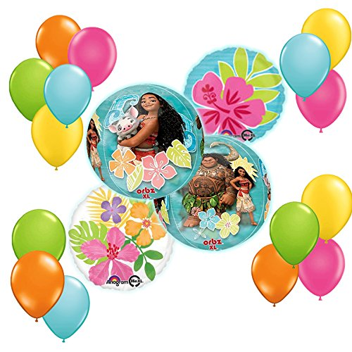 Disney Moana Balloon Bouquet Decoration Kit19pc by Anagram