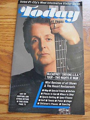 - Today In Las Vegas Paul McCartney Driving U.S.A. Program Magazine 2002