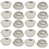 uxcell Computer Desk 60mm Dia Plastic Rotatable Grommet Cable Hole Cover Gray 20pcs