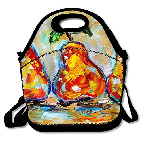 Insulated Waterproof Lunch Tote,Classic Fruit Still Life Oil Durable Picnic Bag ()