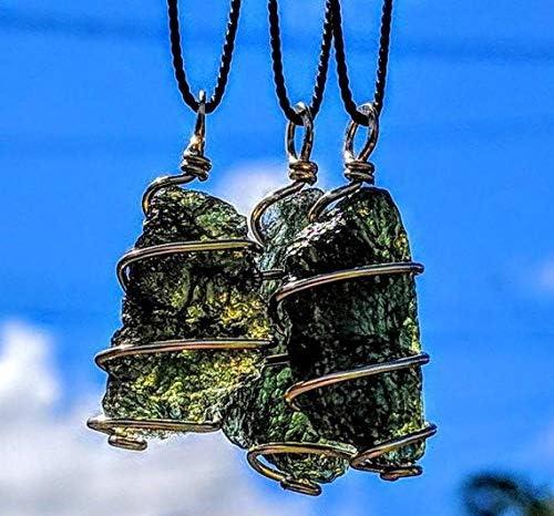 Powerful Moldavite pendant Raw Czech Moldavite The Most Powerful Crystal