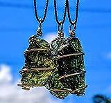 """MOLDAVITE Necklace in Gold! 12 Kt 19"""" Necklace"""