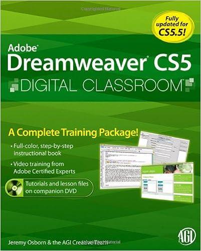 Cs6 a in dreamweaver book adobe classroom