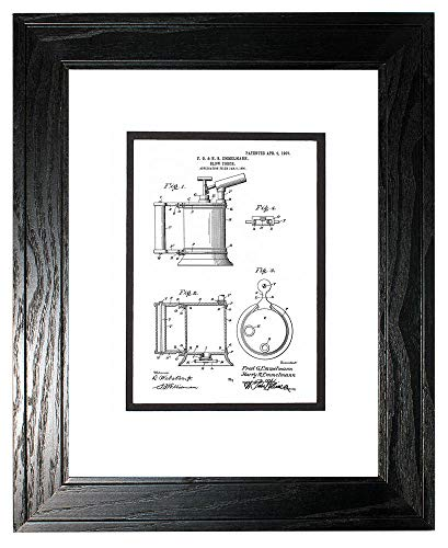 - Blow-Torch Patent Art White Matte Print in a Black Pine Wood Frame with a Double Mat (11