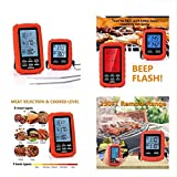 Meat Thermometer Digital Grill Oven or Smoker Remote Food Thermometers | The Best Wireless Accessories for Safe Remote BBQ Grilling, Kitchen Cooking, Smokers and You Can Even Make Candy