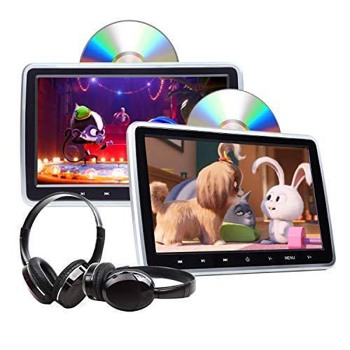 2020 Headrest DVD Player Car DVD Player 10.1 Inch DVD PlayerDual Universal Vehicle Headrest Monitor Portable DVD Player for Kids Touch Screen Headrest DVD Player Digital Touch Button HDMI-C1100A 2020