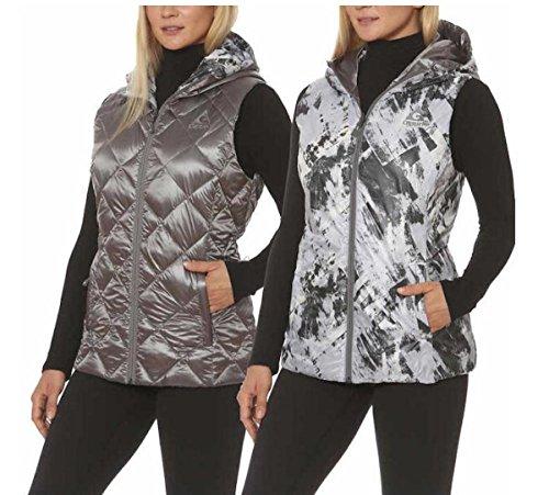 - Gerry Reversible Packable Down Vest for Women (L, Zinc/Moondust Dry Brush)