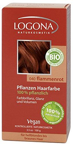 LOGONA Herbal Hair Color, Flame Red