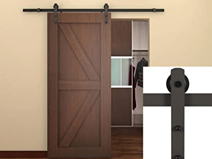 Amazon Belleze 66 Classic Rustic Sliding Barn Wood Door