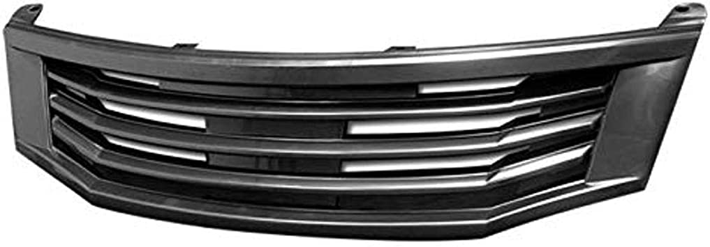 Gloss Black Armordillo USA 7148970 Horizontal Grille Fits 2008-2010 Honda Accord Sedan