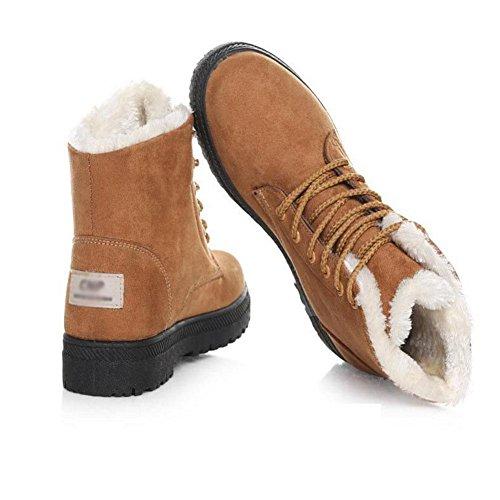 Stivali e caldo donna resistenti cotone da all'usura 37 Peluche in Inverno comode Sr1pvS