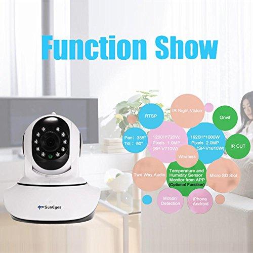 SunEyes SP-V710W Wireless 720P Pan Tilt Camera Night Vision WiFi Webcam(US) by SunEyes (Image #1)