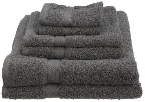 Pinzon Egyptian Cotton 725-Gram 6-Piece Towel Set, Gray