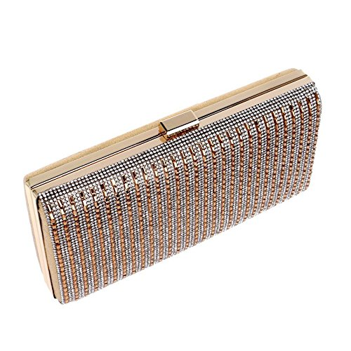 Wedding Bag Evening KERVINFENDRIYUN Silver Purse Gold For Clutch Color x5XqrCwqd