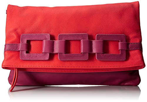 Trina Turk Tiki Twist Colorblock Clutch, Cranberry Multi, One ()