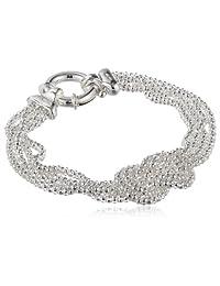 "Sterling Silver Mesh Love Knot Bracelet, 7.5"""