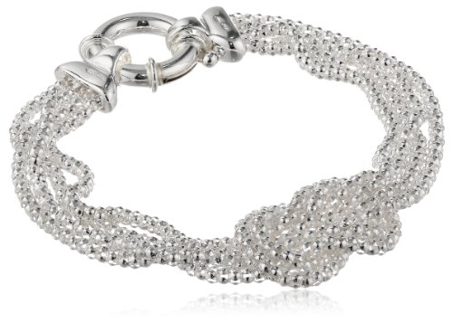 Silver Sterling Knot Mesh - Sterling Silver Mesh Love Knot Bracelet, 7.5