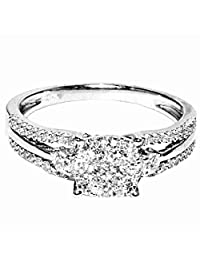 1/2cttw Diamond Wedding Ring 10K White Gold 7mm Wide(I/j Color 0.5cttw)