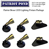 Patriot Brass LED Waterproof Pond and Landscape Lighting Fixture ONLY Kit PF-D3