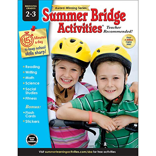 Summer Bridge Activities - Grades 2 - 3, Workbook for Summer Learning Loss, Math, Reading, Writing and More with Flash Cards and Stickers (Best After School Activities For Kids)