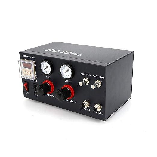 110V Glue Dispenser for AB Glue Epoxy Resin Foot Pedel Control Semi-Auto w// Tank