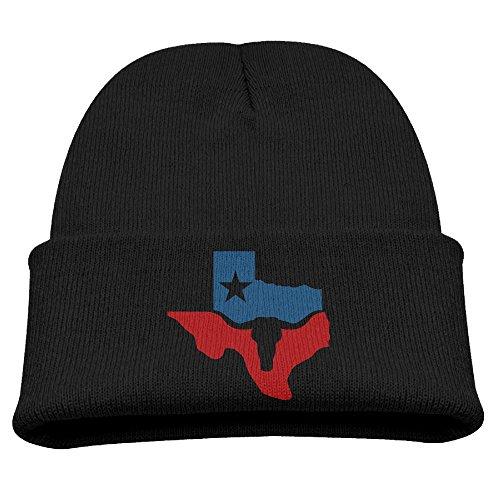 HSXOOW Beanie Kid's Texas Longhorn Flag Warm Beanie Hat Skull Cap