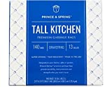 Prince & Spring Premium Tall 13 Gallon Garbage Bags with Drawstrings (140 Count)
