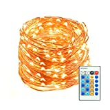 65.5ft 200 LED String Lights Dimmable with Remote Control, Mxsaver Waterproof Decorative Lights for Bedroom, Patio, dining room, Garden, Gate, Yard, Parties, Wedding ( Copper Wire Lights, Warm White )