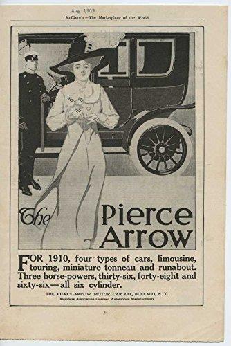 1910 Pierce Arrow Motor Car Buffalo NY Auto Ad Dupont Brushes (Pierce Arrow Buffalo)