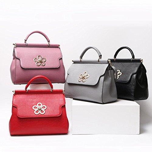 2017 Neue Litschi Korn Handtasche Europa Und Den Vereinigten Staaten Trend Schulter Messenger Bag Handtasche Große Rote Bräute Brautjungfer Tasche Groß,Red-26*11*21cm Hope