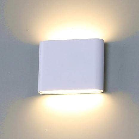 Maxmer Lampada da Parete Applique da Parete LED da Esterna Interna  Decorazione Illuminazione per Giardino Balcone Soggiorno Impermeabile IP65  6W ...