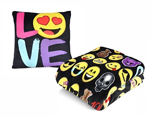 Emoji Pals Love Pillow & Throw [並行輸入品] B07RBDPH5F