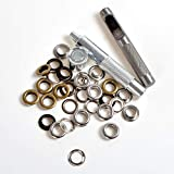 New Eyelet Punch Die Tool Set Kits +20 Sets Eyelet with Washer For Leather Craft Clothing Grommet Banner (600#-8mm)