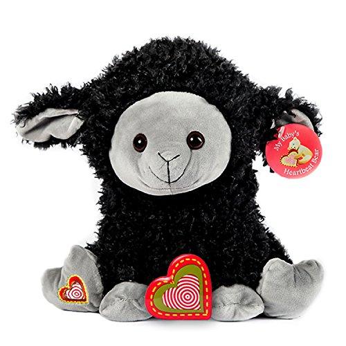 My Baby's Heartbeat Bear - Black Sheep Stuffed Animal w/ 20 sec Voice Recorder - Black Sheep]()