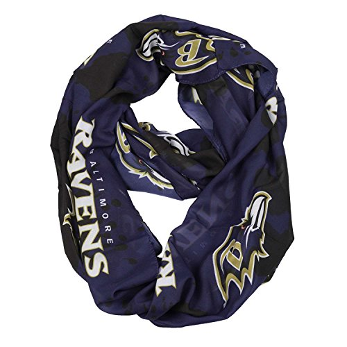 NFL Baltimore Ravens Silky Spatter Infinity Scarf by Littlearth