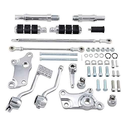 Compatible with 1991-2003 Harley Sportster XL883 XL1200 Forward Controls Asemblies Foot Pegs Levers Linkage