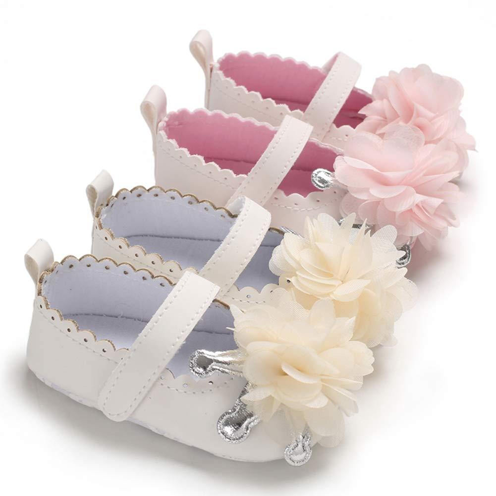 Madjtlqy Toddler Baby GirlFlower Sandals Soft Anti-Slip Shoes