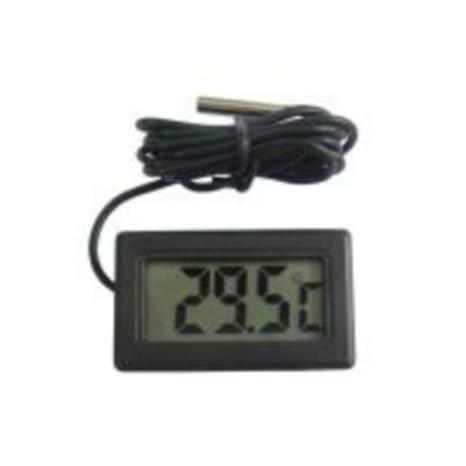 Grifri - Termómetro digital LCD, probador para nevera, acuario (negro)