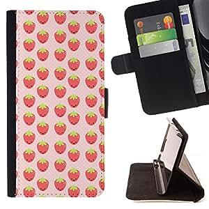 BullDog Case - FOR/LG G3 / - / strawberries red berries wallpaper fresh food /- Monedero de cuero de la PU Llevar cubierta de la caja con el ID Credit Card Slots Flip funda de cuer