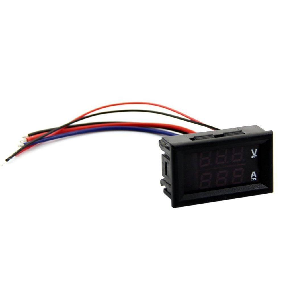 TOOGOO(R) DC 100V 10A Voltmeter Ammeter Red LED Panel Amp Dual Digital Volt Meter Gauge 045266