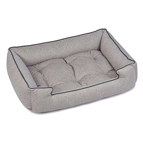 Jax and Bones Standard Printed Plush Velour Sleeper Bed, Medium, Herringbone Horizon ()