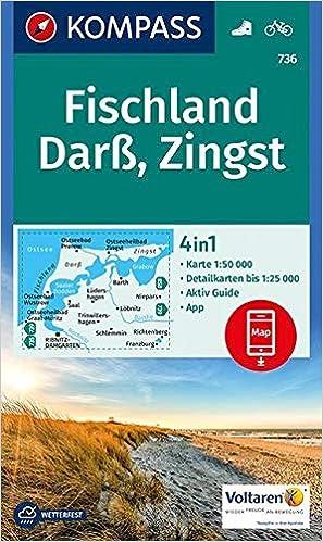Kompass Wk736 Fischland Darss Zingst Wandelkaart 1 50 000