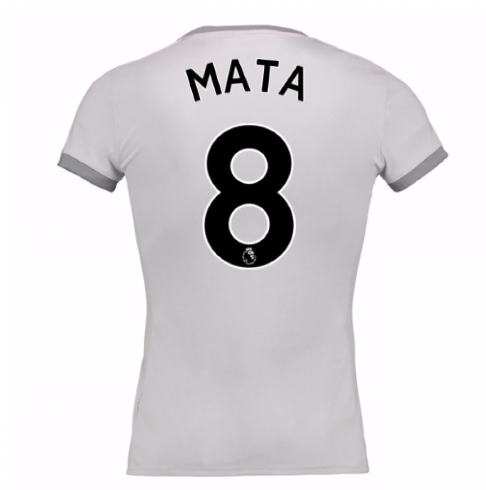 2017-2018 Man United Damenschuhe Third Football Soccer T-Shirt Trikot (Juan MATA 8)
